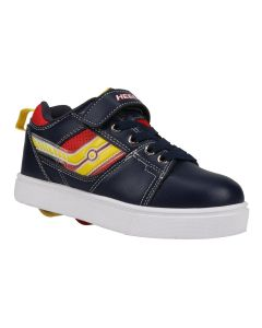 HEELYS Racer X2 Lighted Roller Sneaker in Navy/Red/Yellow
