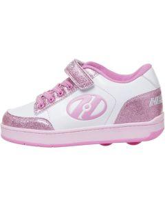 HEELYS Pulse 4.0 Roller Sneaker in White/Pink Glitter