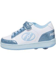 HEELYS Pulse 4.0 Roller Sneaker in White/Blue Glitter