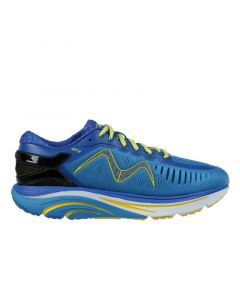 MBT GT 2 Men's Lace Up Running Shoe in Blue Yellow