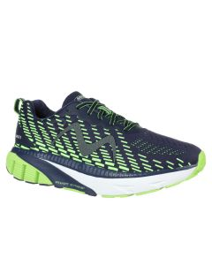 MBT MTR-1500 Men's Lace Up Running Shoe in Navy/Lime