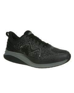 MBT HURACAN-3000 Men's Lace Up Running Shoe in Black Castlerock