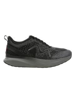 MBT HURACAN-3000 Women's Lace Up Running Shoe in Black Castlerock