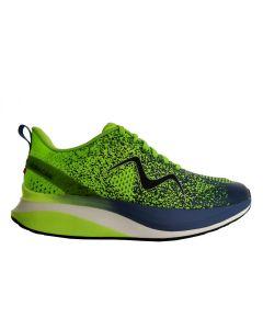 MBT HURACAN-3000 Men's Lace Up Running Shoe in Green Blue Indigo