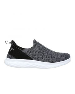 MBT ROME-100 Air Mesh Women's Slip On Fitness Walking Shoe in Dark Grey