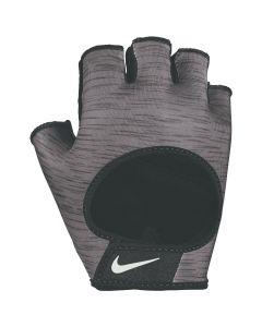 NIKE Women's Printed Gym Ultimate Fitness Gloves in Dark Grey/Black/White