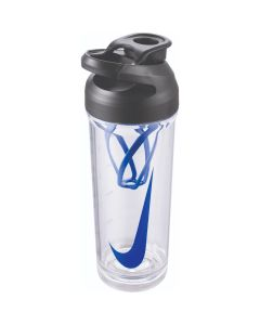 NIKE TR Hypercharge Shaker Bottle 24oz in Clear/Black/Game Royal