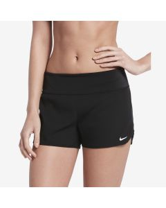 NIKE Women's Solid Element Swim Boardshort in Black