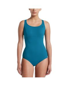 NIKE Women's Epic Racerback One Piece in Green Abyss