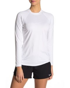 NIKE Women's Long Sleeve Hydroguard in White