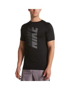 NIKE Men's Short Sleeve Hydroguard in Black