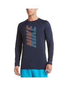 NIKE Men's Long Sleeve Hydrooguard in Obsidian