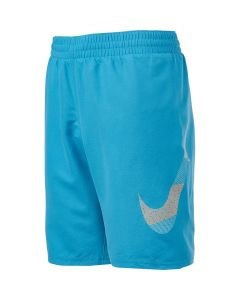 "NIKE Boys' Mash Up Breaker 8"" Volley Short in Lt Blue Fury"