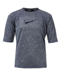 NIKE Boys' Heather Camo Swoosh Half Sleeve Hydroguard in Black