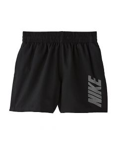 "NIKE Boys' Logo Solid 4"" Volley Short in Black"