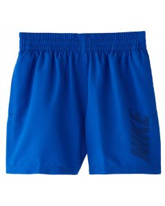 "NIKE Boys' Logo Solid 4"" Volley Short in Hyper Royal"