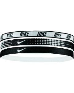 NIKE Printed Headbands Assorted 3pk in White/Black
