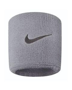 NIKE Swoosh Wristbands in Grey Heather/Black