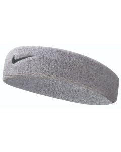 NIKE Swoosh Headband in Grey Heather/Black