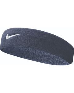 NIKE Swoosh Headband in Obsidian/White