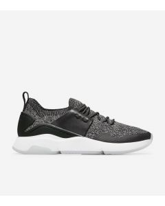 COLE HAAN ZERØGRAND Women's All-Day Trainer in Black Stitchlite™-Optic White