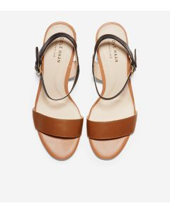 COLE HAAN Josie Women's Block Heel Sandal in Black-British Tan