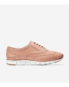 COLE HAAN ZERØGRAND Women's Wing Oxford Closed Hole in Rose Burgundy