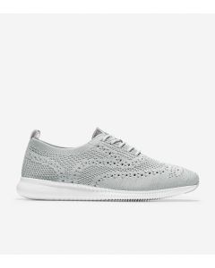 COLE HAAN ZERØGRAND Women's Wingtip Oxford in Argento Stitchlite Grey