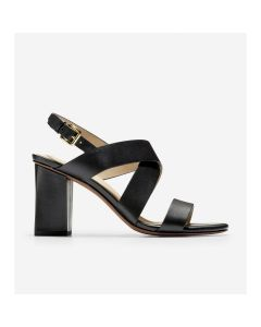 COLE HAAN Cynthia Women's Block Heel Sandal in Black Leather