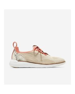 COLE HAAN ZERØGRAND Women's Global Trainer in Pumice Stone Knit-Python Print