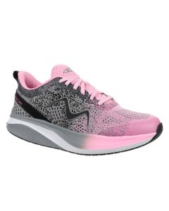 MBT HURACAN-3000 Women's Lace Up Running Shoe in Grey/Pink