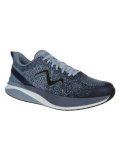 MBT HURACAN-3000 Women's Lace Up Running Shoe in Dusty Blue Indigo