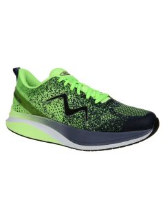 MBT HURACAN-3000 Women's Lace Up Running Shoe in Green Blue Indigo