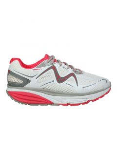 MBT SIMBA 3 Women's Lace Up Running Shoe in White Red